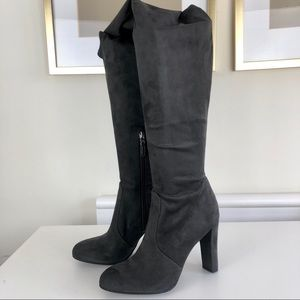 Sam Edelman over the knee gray suede boots…